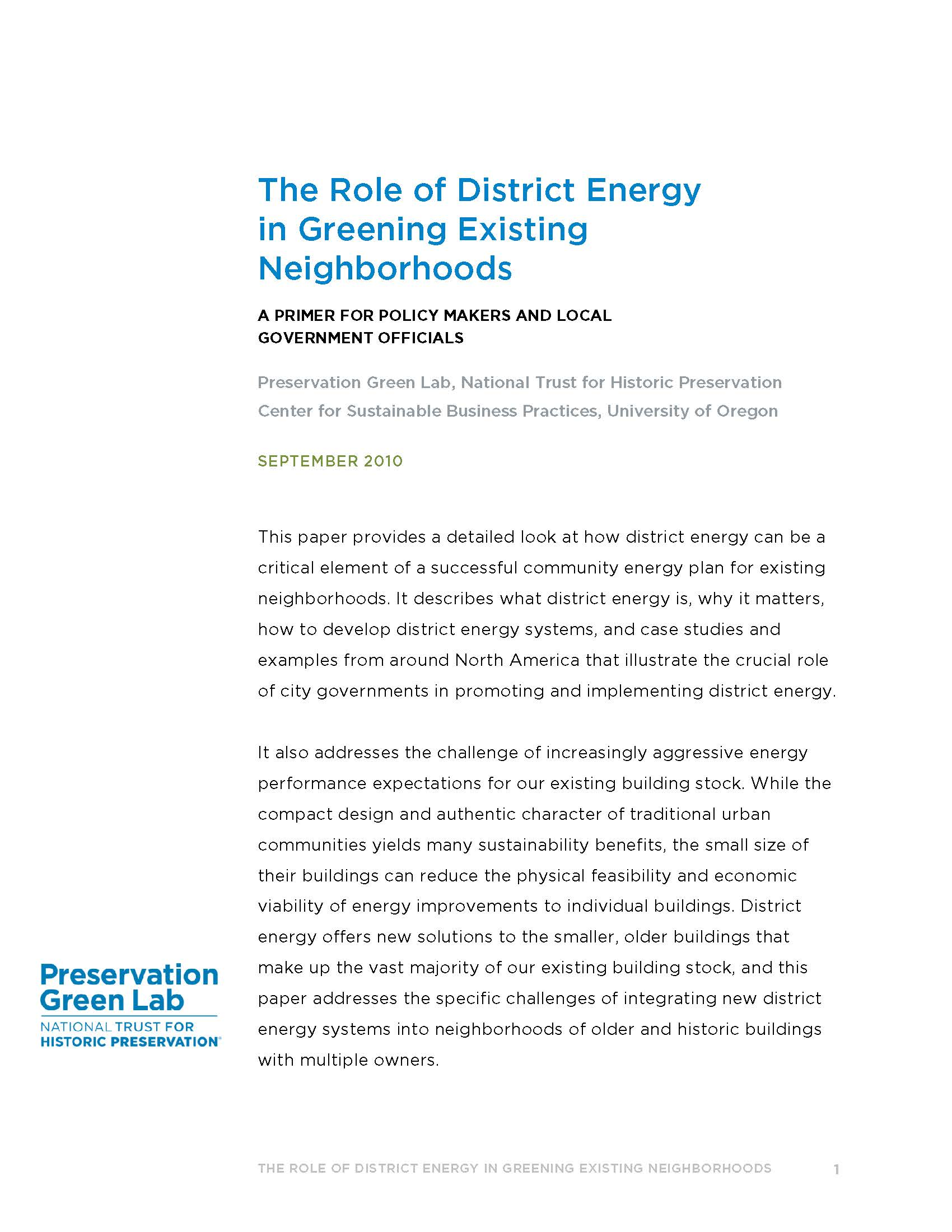 District Energy