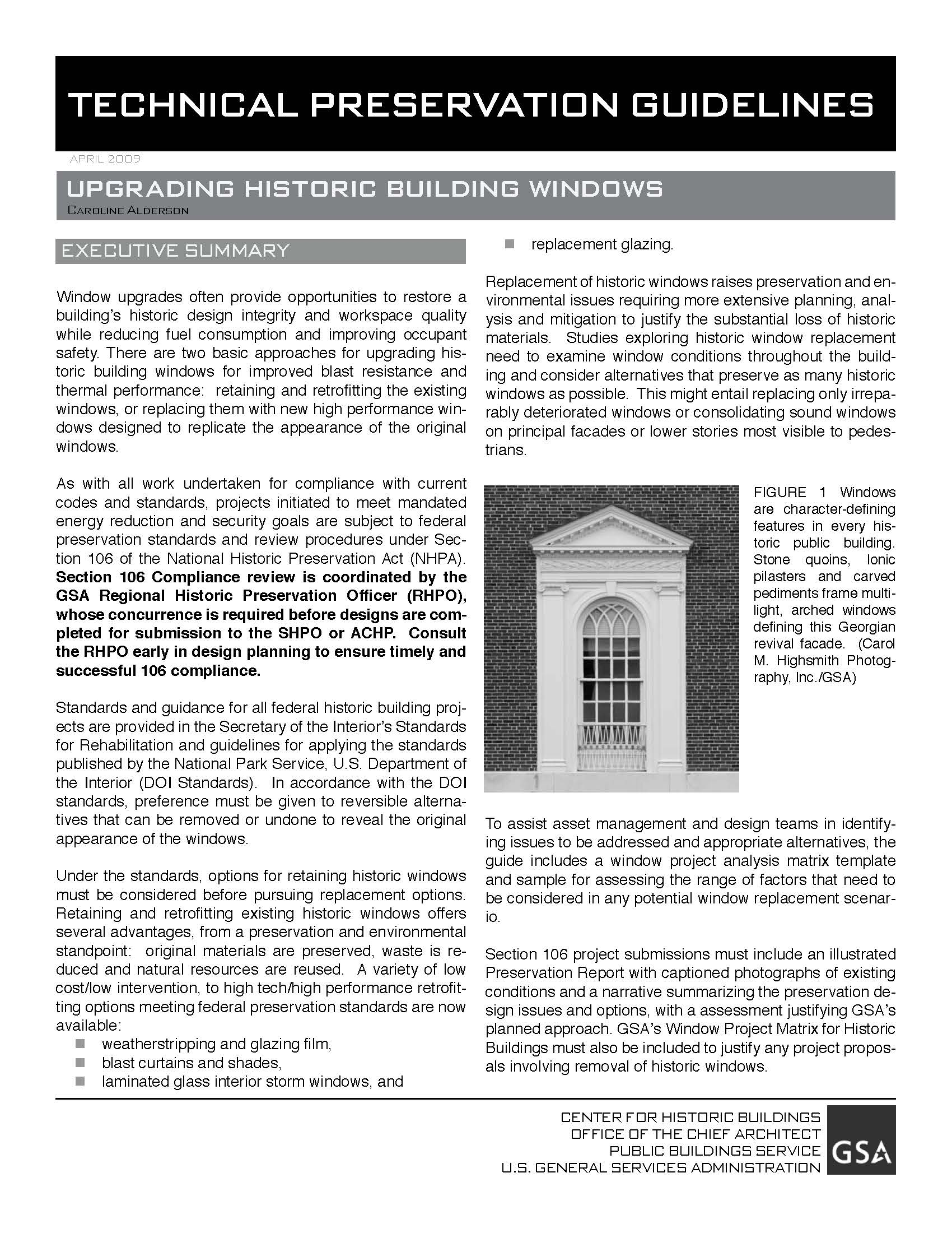 GSA Technical Windows