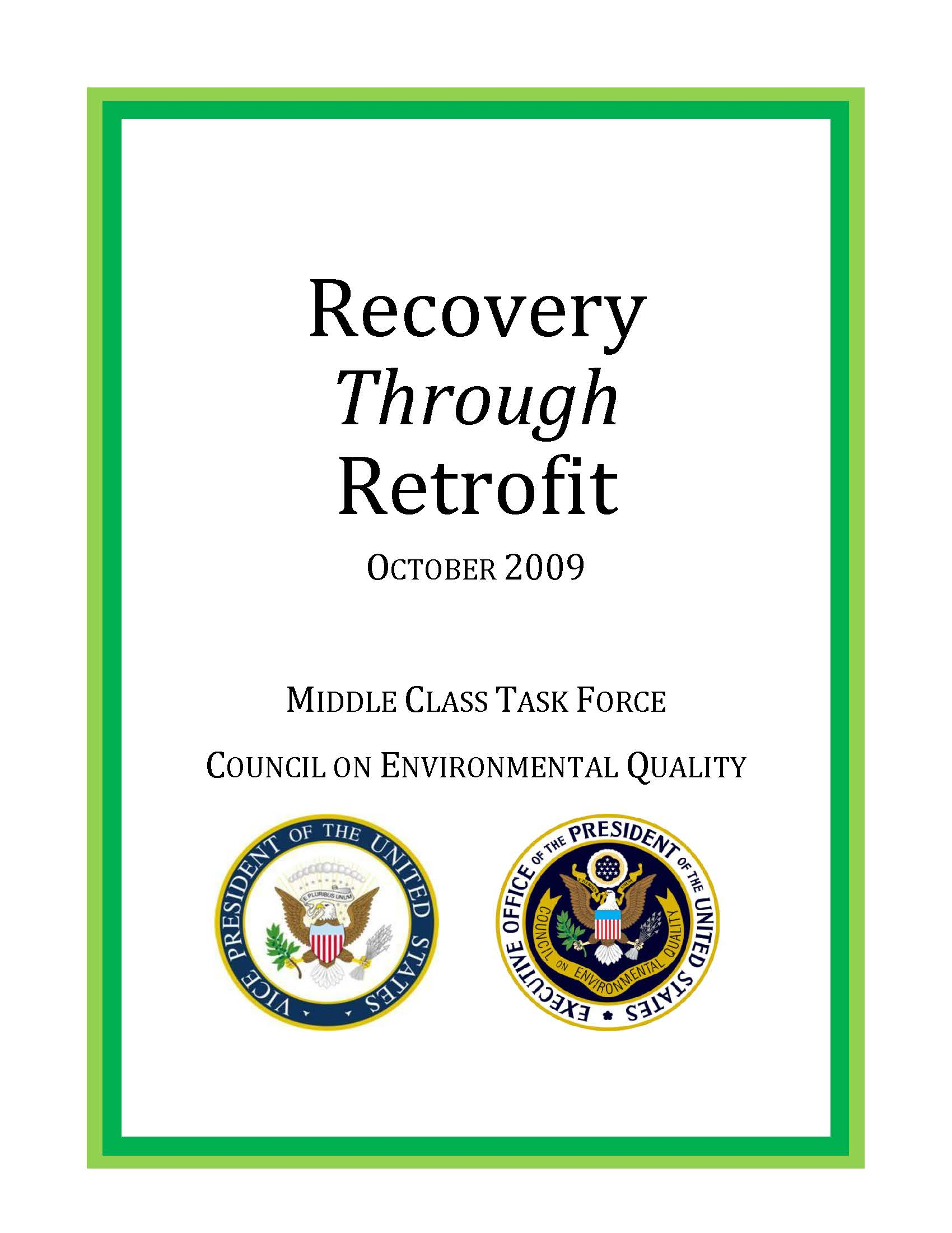 Recovery Through Retrofit