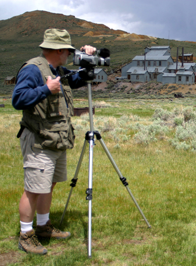 Videographer at Bodie State Historic Park
