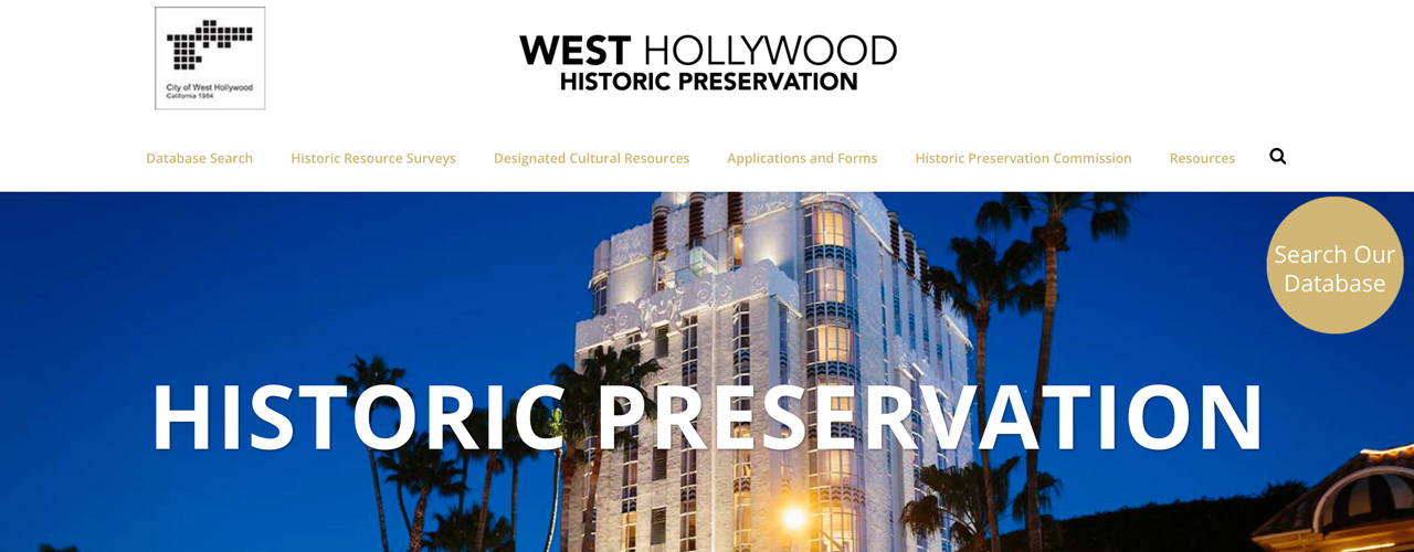 2018 Governor's Historic Preservation Awards - West Hollywood Historic Preservation Project