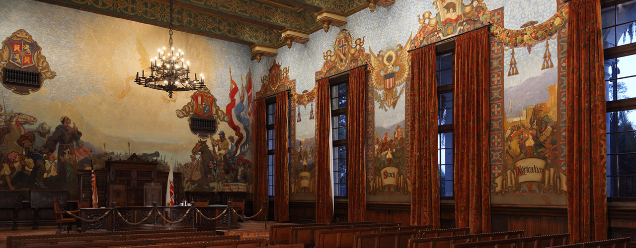 2018 Governor's Historic Preservation Awards - Santa Barbara County Courthouse Mural Room