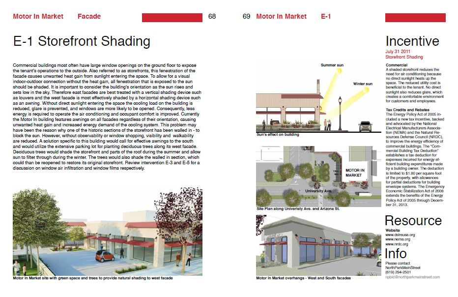 Report page demonstrating storefront Shading