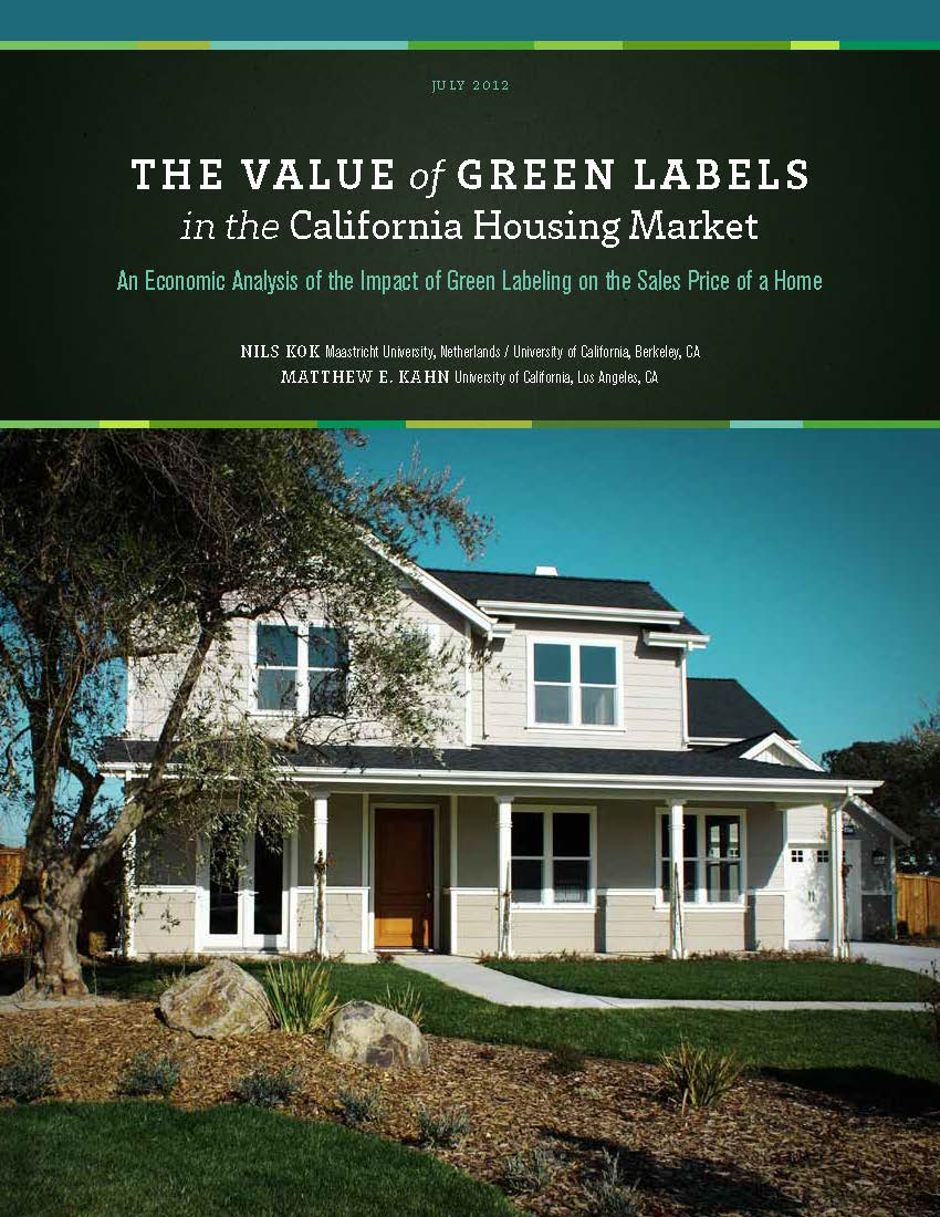 Value of Green Rated Homes Report